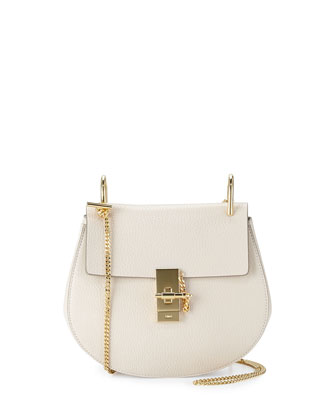 Drew Small Shoulder Bag, Off White