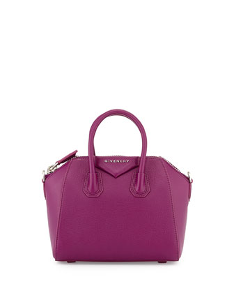 Mini Antigona Crossbody Bag, Purple