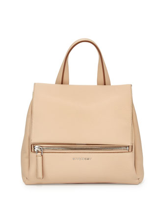 Pandora Small Waxy Calf Bag, Light Beige