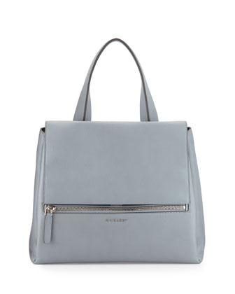 Pandora Medium Waxy Calf Bag, Gray