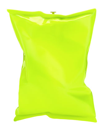Crisp Packet Shoulder Bag, Neon Yellow