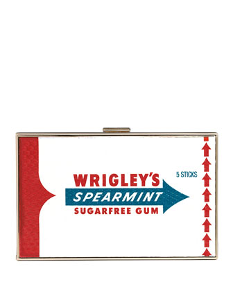 Imperial Framed Clutch Bag, Spearmint Gum