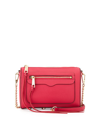 Avery Saffiano Crossbody Bag, Pink