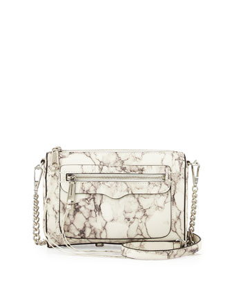 Avery Marble Print Crossbody Bag, Multi