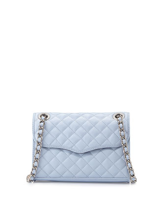 Mini Affair Quilted Crossbody Bag, Light Blue