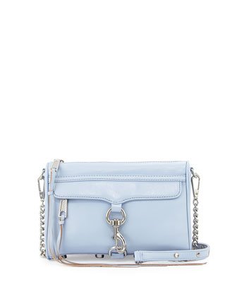 Mini MAC Crossbody Bag, Light Blue