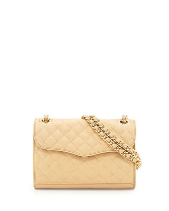 Mini Affair Quilted Crossbody Bag, Cream