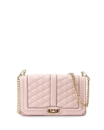 Love Quilted Crossbody Bag, Pink