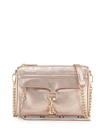 Mini MAC Metallic Clutch Bag, Rose