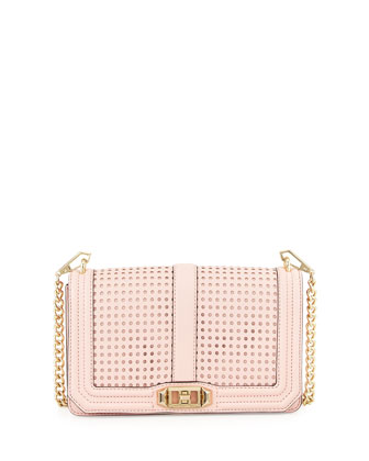 Love Perforated Crossbody Bag, Pink