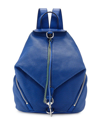 Julian Perforated Backpack, Blue