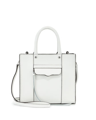 Mini MAB Saffiano Tote Bag, White