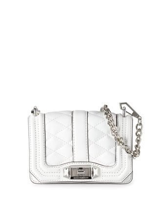 Mini Love Quilted Crossbody Bag, White