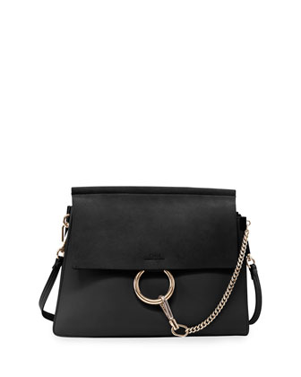 Fay Suede-Flap Shoulder Bag