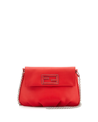 Fendista Pochette Crossbody Bag, Red