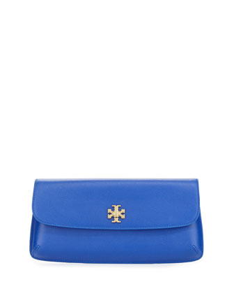 Diana Flap Clutch Bag, Jelly Blue
