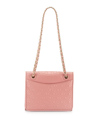Fleming Quilted Medium Flap Shoulder Bag, Pink