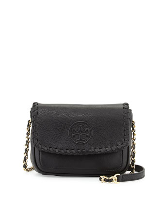 Marion Mini Flap Bag, Black