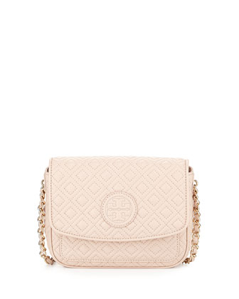 Marion Quilted Mini Shoulder Bag, Light Oak