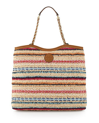 Marion Woven Slouchy Tote Bag, Multi