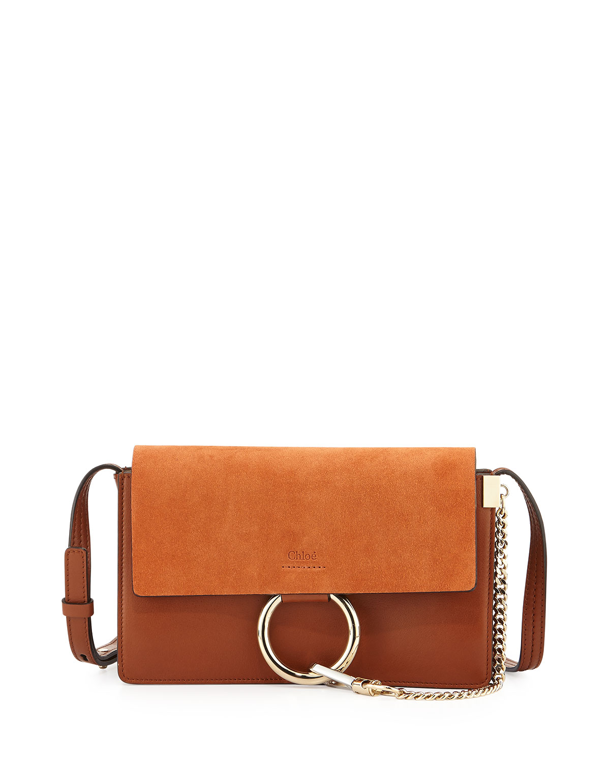 Faye Small Suede Shoulder Bag, Brown, Size: S - Chloe