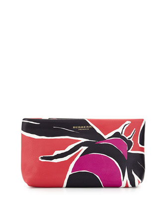 Prorsum Insect Printed Clutch Bag, Magenta/Pink