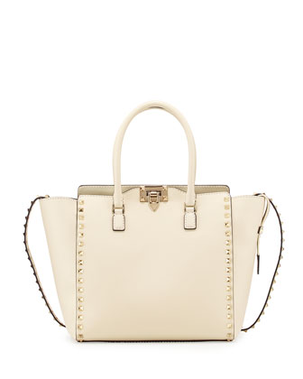 Rockstud Pagoda Shopper Tote Bag, Ivory