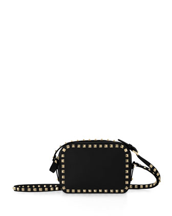 Rockstud Camera Crossbody Bag, Black