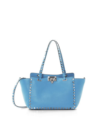 Rockstud Mini Tote Bag, Parrot Blue
