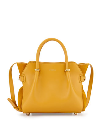 Mini Marche Leather Satchel Bag, Yellow