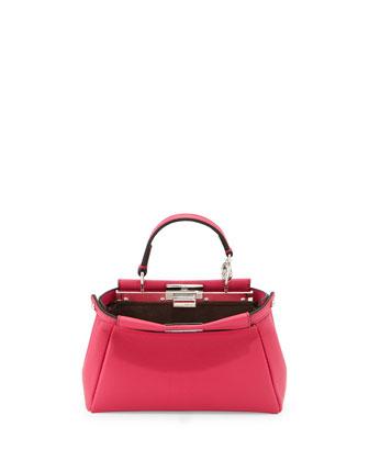 Peekaboo Micro Satchel Bag, Pink