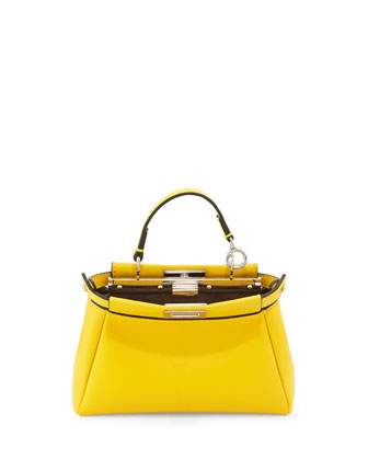 Peekaboo Micro Satchel Bag, Yellow