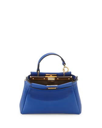Peekaboo Micro Satchel Bag,, Blue