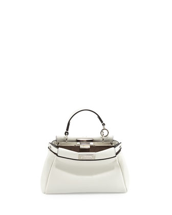 Peekaboo Micro Satchel Bag, White