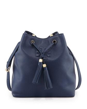 Thea Drawstring Bucket Bag, Starless Night