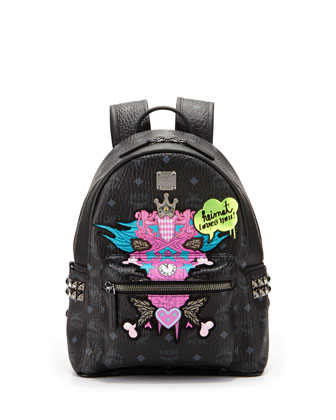 Stefan Strumbel Medium Backpack, Black
