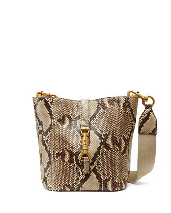 Jackie Soft Python Bucket Bag