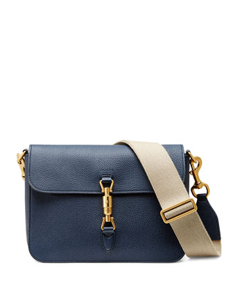 Jackie Soft Shoulder Bag, Navy