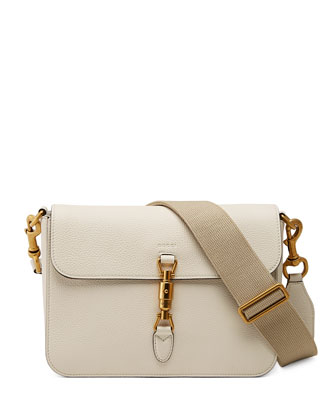 Jackie Soft Shoulder Bag, White