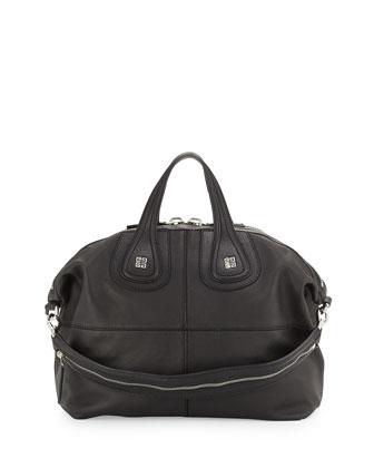 Nightingale Medium Satchel Bag, Black