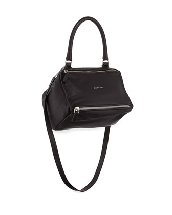 Pandora Sugar Small Leather Shoulder Bag, Black