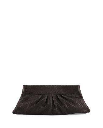 Louise Metallic Clutch Bag, Black