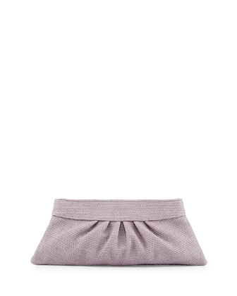Louise Raffia Clutch Bag, Lilac