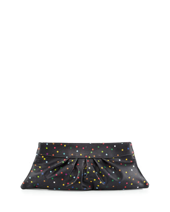 Louise Star-Embellished Clutch Bag