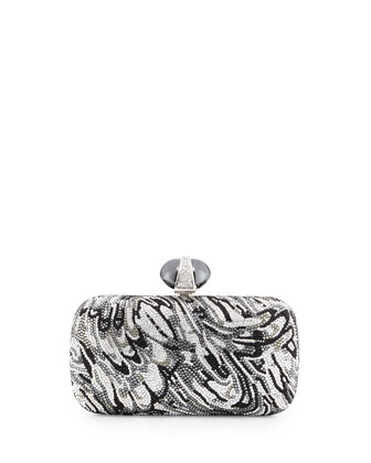 New Soap Dish Crystal Clutch Bag, Silver Multi