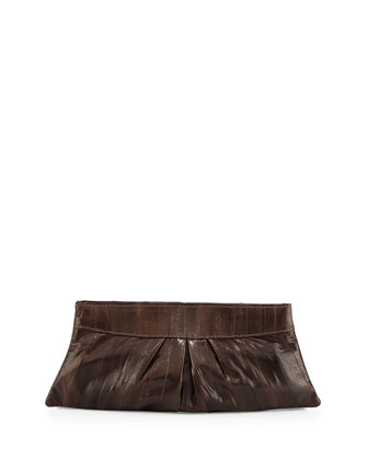 Eve Eelskin Clutch Bag, Chocolate