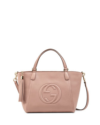 Soho Small Crossbody Tote, Dark Cipria Rose