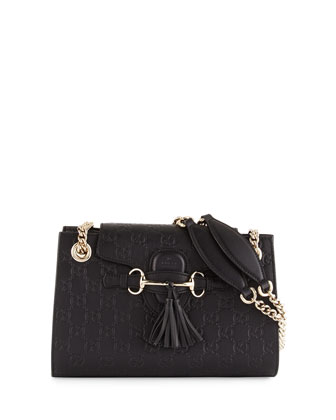 Extra-Small Flap Bit Shoulder Bag, Nero