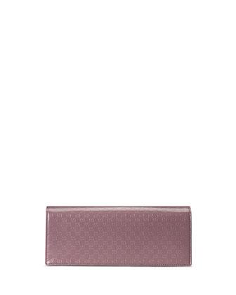 Microguccissima Patent Clutch Bag, Argyle Lavender