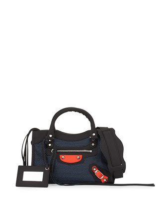 Classic City Mini Bag, Blue/Red/Black